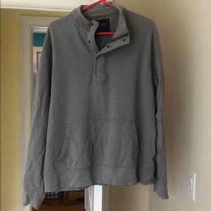 J Crew Outerwear Fleece Quarter ZIP with buttons